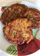 Hamburguesas vegetales de pimiento y berenjena