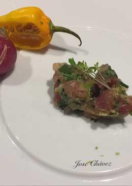 Tartar de Atún rojo, aguacate y chile chipotle