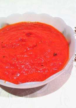 Salsa de tomate al albahaca para macarrones y espaguetis