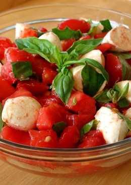 Ensalada de tomate y mozzarella (Receta vegetariana)