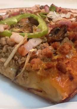 Pizza de tres quesos 10 recetas caseras cookpad for Telepizza 3 pisos
