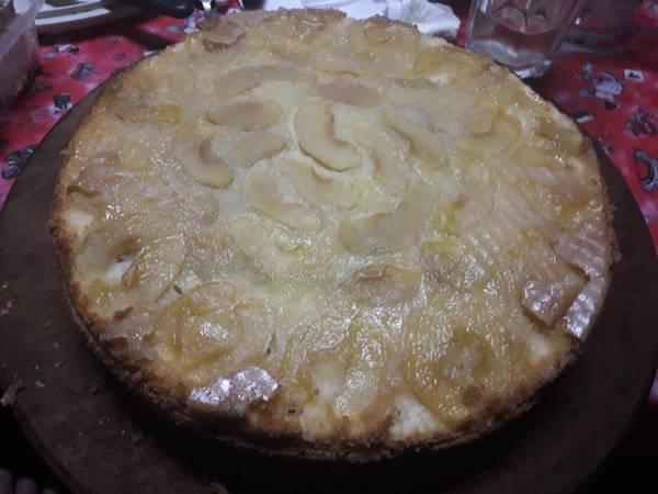 Torta de manzanas invertida