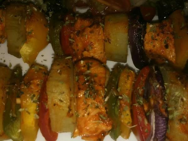*Brochette de Pollo y Verduras*