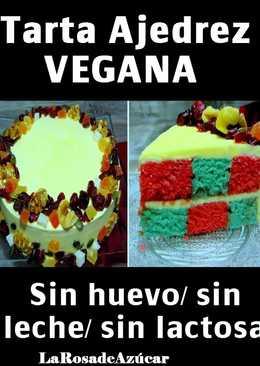 Tarta Ajedrez vegana (Sin leche/sin huevo)