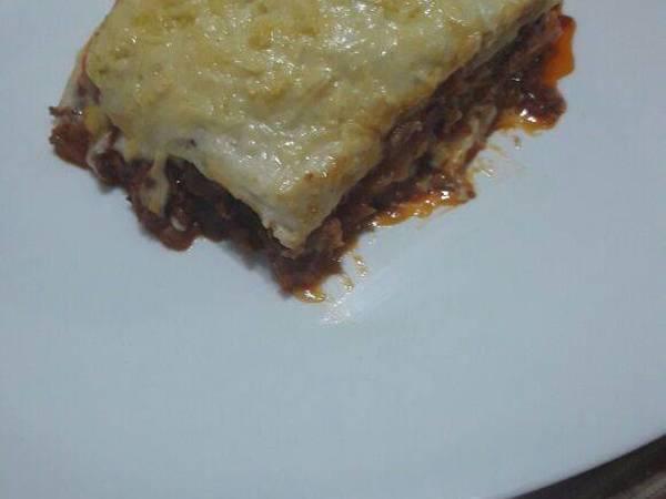 Lasaña de salsa bolognesa