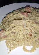 Spaghetti hotdog con nata y queso🤤🍝🌭🧀