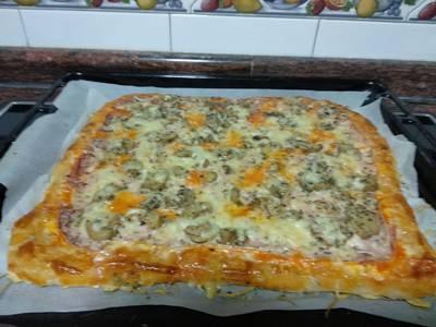 Pizza sin amasado