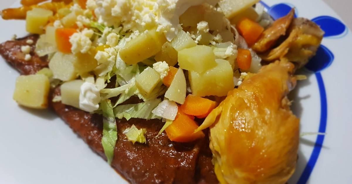 Enchiladas de mole - 13 recetas caseras - Cookpad
