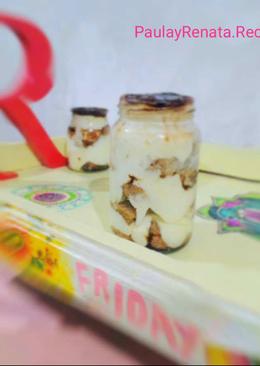 Tiramisú con queso crema y nesquik 👶