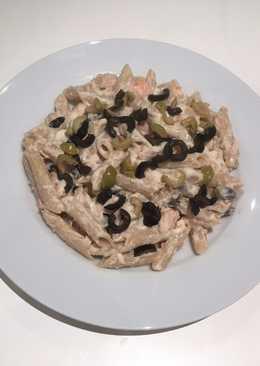 Ensaladilla de pasta con langostinos