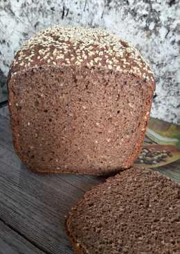 Pan negro integral con cacao, café y miel (en panificadora)