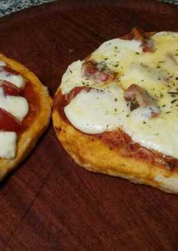 Pizzetas express  con doble queso