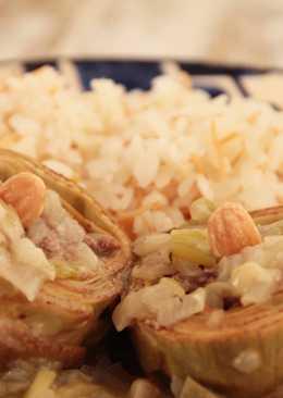 Alcachofas rellenas de carne picada