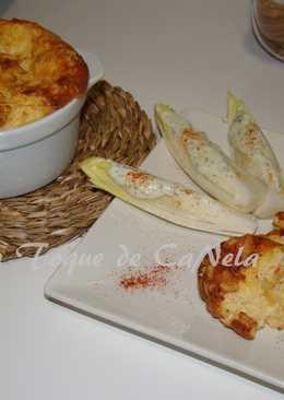 Suoffle de puerro y patata con dos quesos