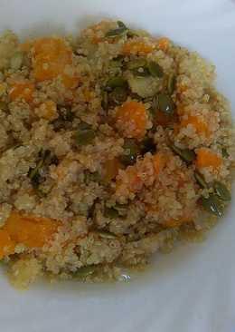 Quinoa con calabaza roja y patata