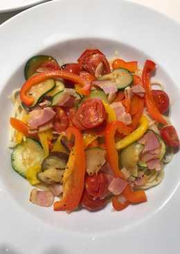 Colorful espaguetis