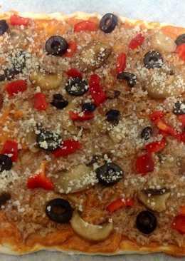 Pizza sin gluten con atún a tu gusto