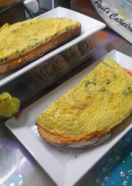 Tortilla de espárragos de maceta
