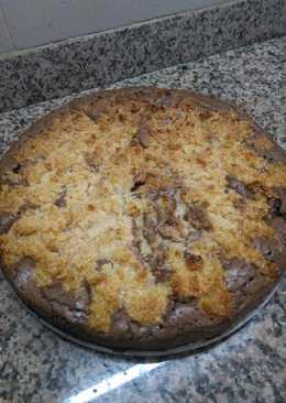 Torta marmolada de chocolate y coco