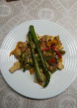 Salteado de verduras con tofu 🍲🍴