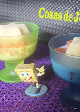 Sandía con helado de pera