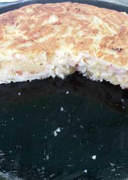 Tortilla española a la carbonara