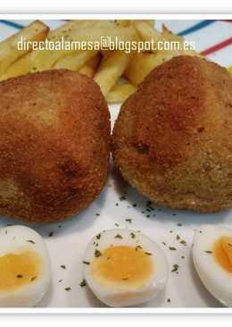 Huevos escoceses de codorniz