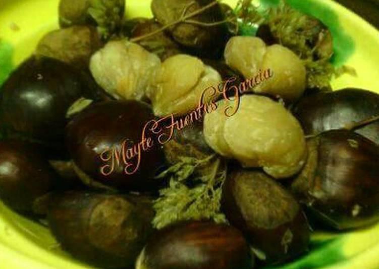 Casta as cocidas receta de mayte fuentes garcia cookpad - Castanas cocidas tiempo ...