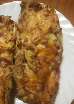 Baguet pizza carbonara