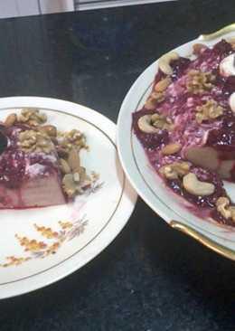 Delicia de frutos rojos light con queso light y yogur natural