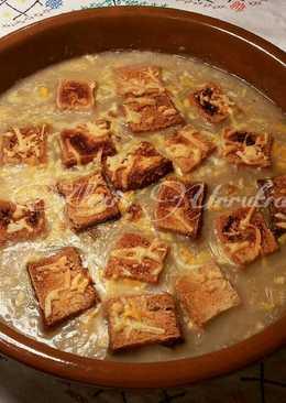 Crema de cebolla al estilo frances con toque Urrutia