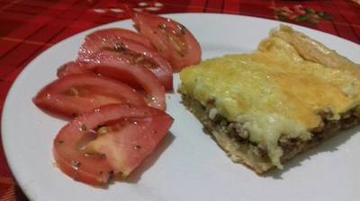 Pastel de carne y papas