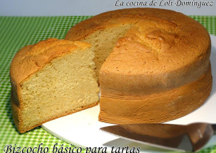 Bizcocho básico para tartas, súper esponjoso