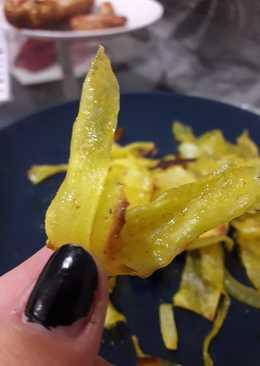 Chips de yuca especiados al horno