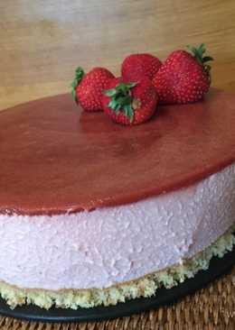 Tarta de mascarpone con fresas