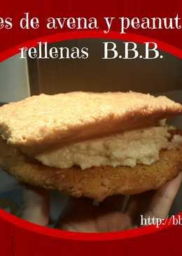Cookies de avena y peanut butter rellenas B.B.B.