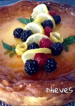 Tarta de queso y yogur, con un toque de limón y jengibre