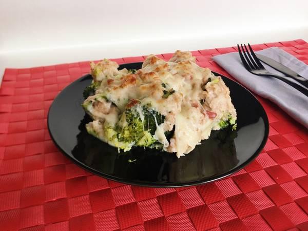 Brócoli gratinado (con jamón y pavo)