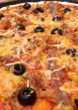 Pizza sin gluten de atún y anchoas