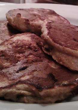 Tortitas de plátano y chocolate (¡Con sólo 2 ingredientes!)