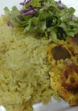 Mix colombiano: arroz con coco y patacones 🇨🇴