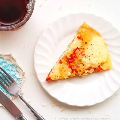 Masa de pizza con arroz cocido (SIN GLUTEN) Fácil, ECONÓMICO y sin trabajo (Lo hacemos en la licuadora o multiprocesadora)