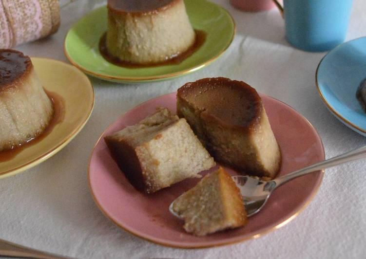 Flan de plátano y almendras #sinlactosa y #singluten
