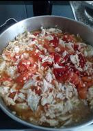 Macarrones con Palometa al Tomate