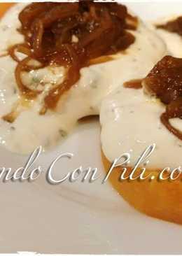 Calabaza con queso y cebolla caramelizada sin azúcar
