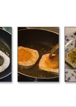 Mi primer trampantojo de huevo frito con boletus