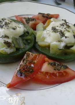 Zapallitos rellenos con vegetales
