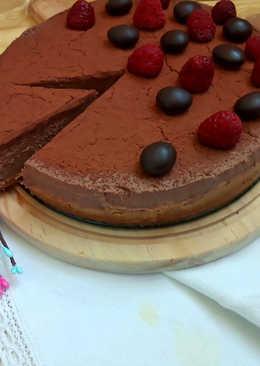 Chocolate tofu cheesecake. Sin horno