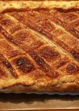 Empanada dulce, de queso Philadelphia y nueces