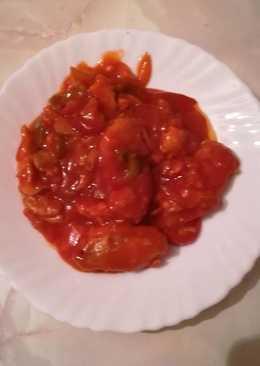 Bacalao con tomate y pimientos súper fácil y rápido